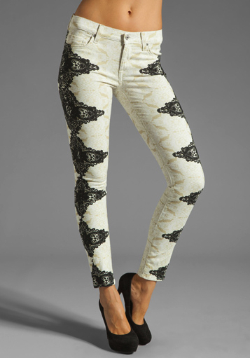 lace jeans 7 for all mankind