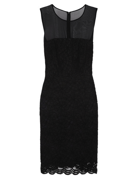 little black dress lace Diane Von Furstenburg