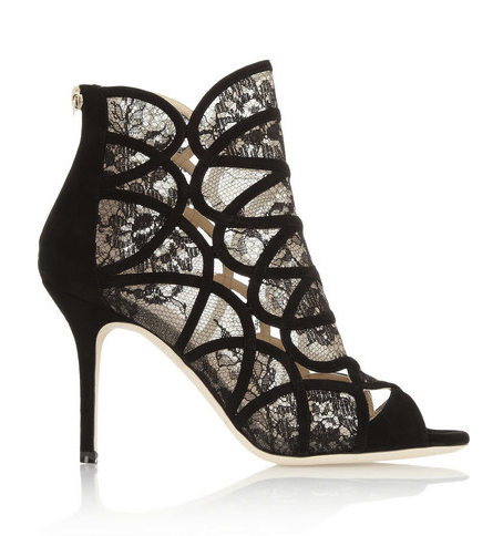 lace shoes booties Jimmy Choo