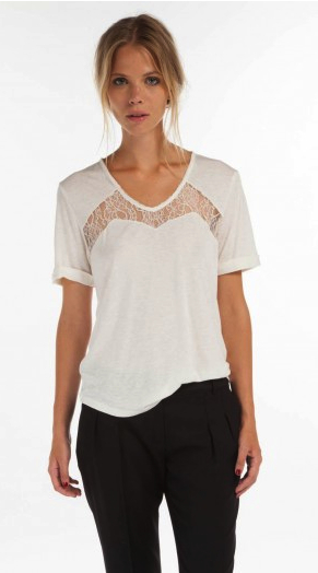 lace t-shirt Maje