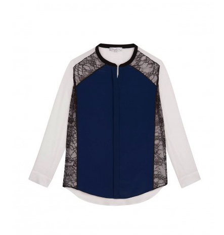 lace color block blouse Sandro