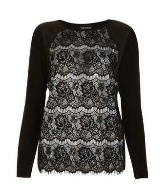 lace sweater Top Shop