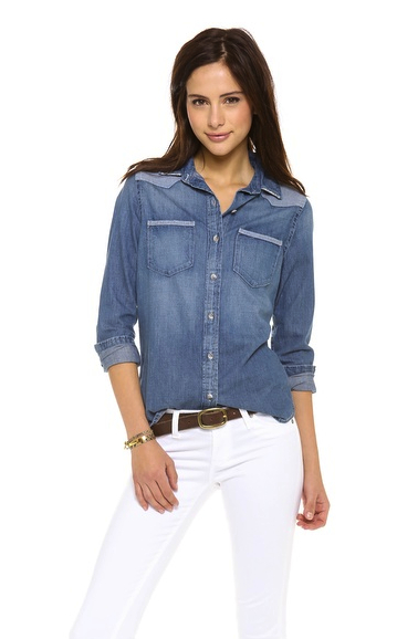 chambray shirt denim AG