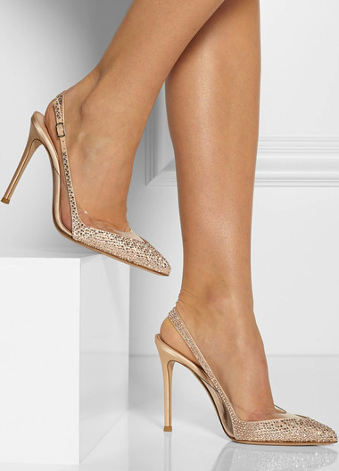 Gianvito Rossi embellished slingbacks