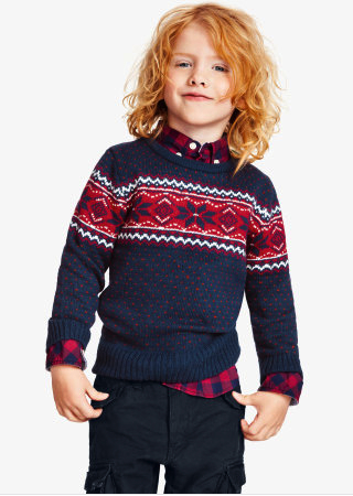 H&M holiday sweater boys