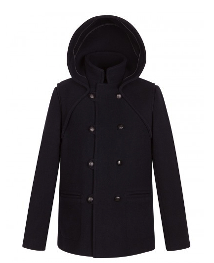 Sandro men's hooded peacoat