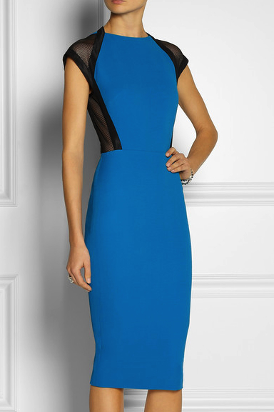 Victoria Beckham little blue dress