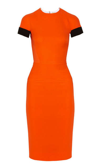 Victoria Beckham little orange dress