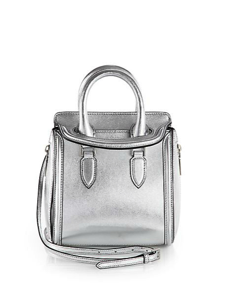 alexander mcqueen metallic bag