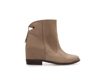 ankle boot with interior wedge