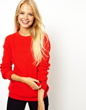 bright chunky sweater