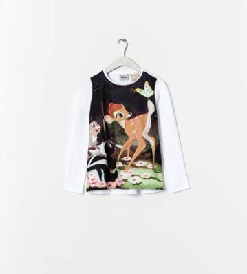 bambi tshirt Zara kids