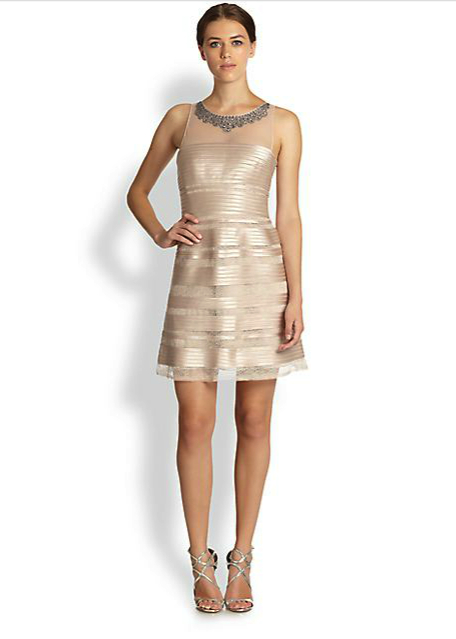 bcbg metallic dress