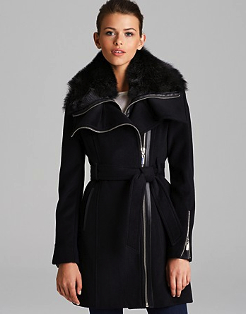 chic black coat BCBG