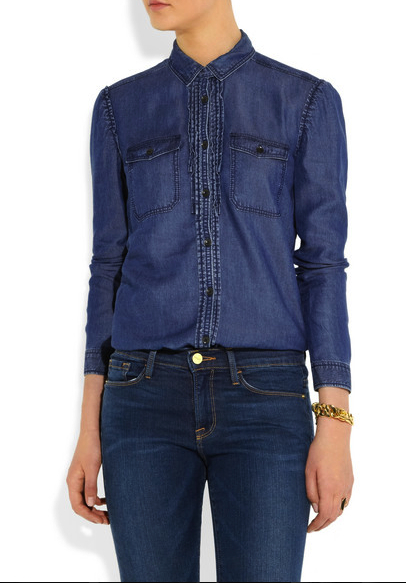 denim shirt burberry brit