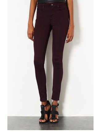 burgundy jeans topshop