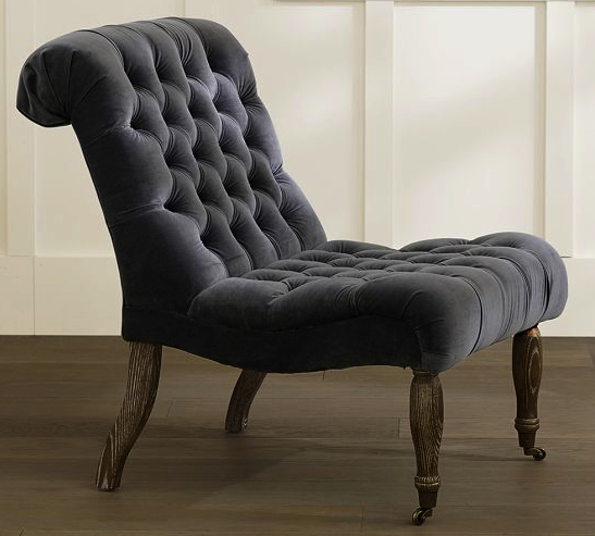 carolyn tufted chair pottery barn