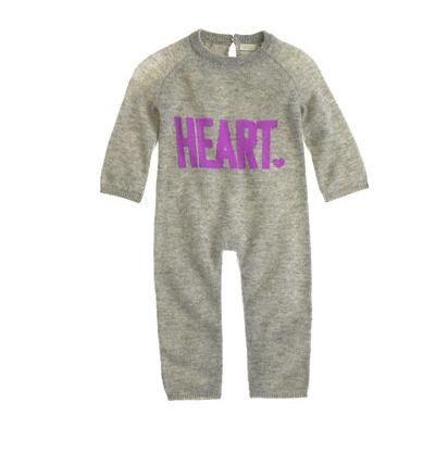 cashmere one piece jcrew heart