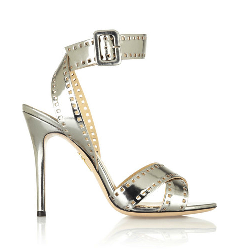 charlotte olympia metallic shoes