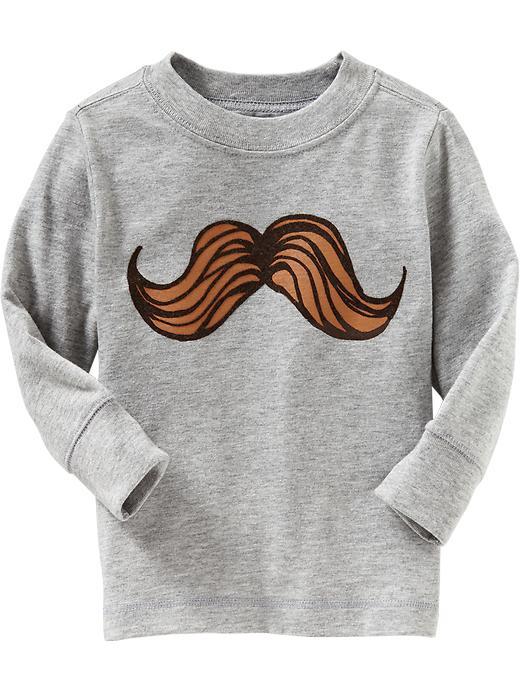 mustache print shirt