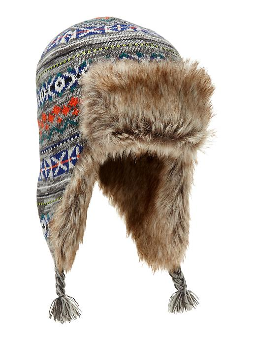 boho trapper hat kids gap