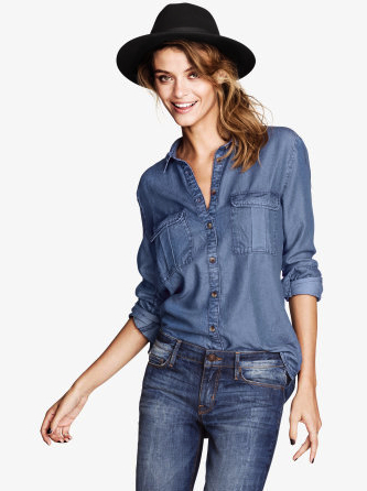 Denim shirt H&M