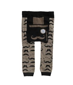 mustache print kids pants