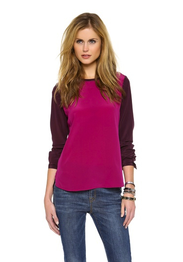 dvf purple top