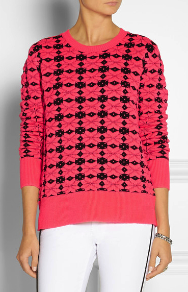 emma cook neon sweater
