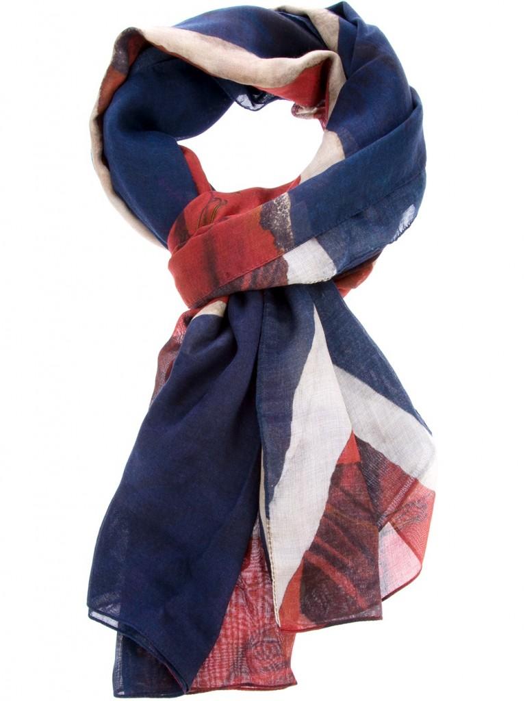 union Jack scarf Alexander Mcqueen