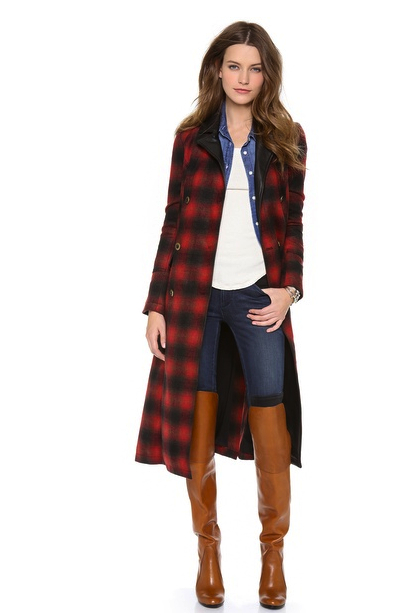 plaid coat Free People