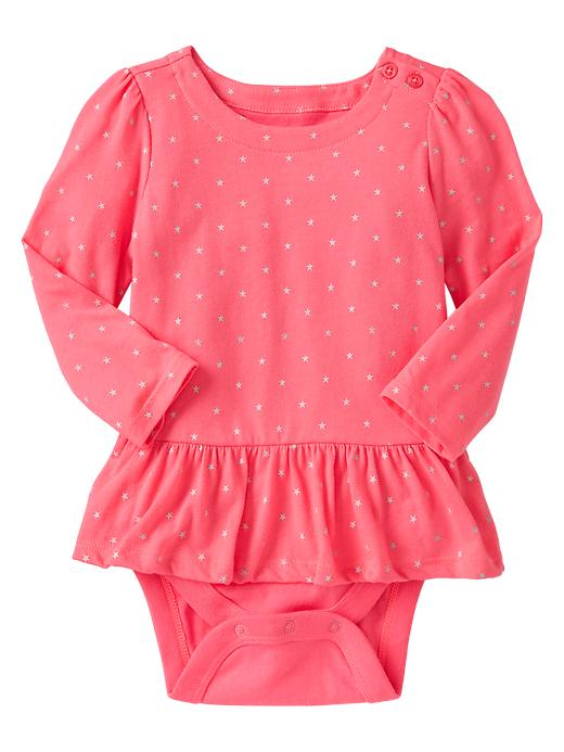 peplum baby bodysuit