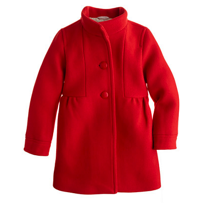 girls red coat j crew