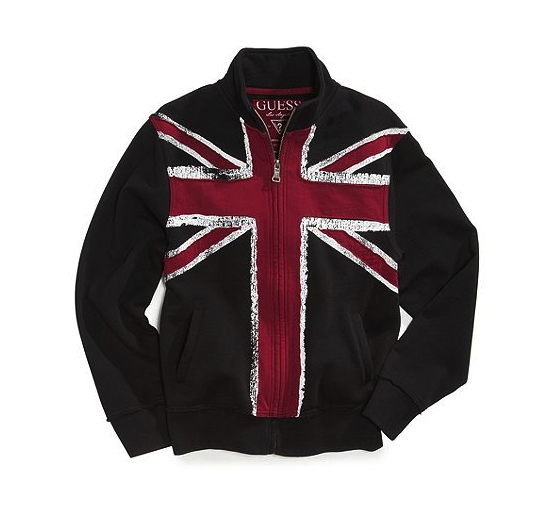 union jack sweatshirt Macy's Guess