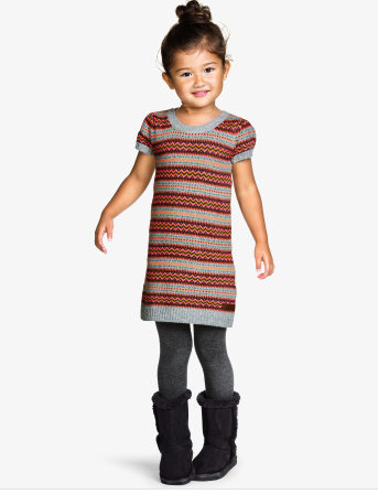 boho knit dress h&m kids