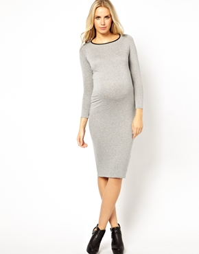 Maternity dress figure hugging New Look Asos