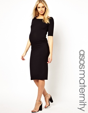 Maternity little black dress Asos