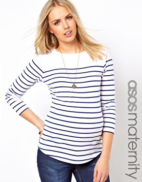 Maternity stripe top asos