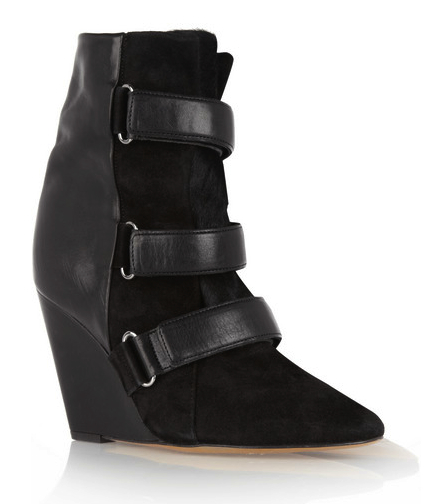 isabel marant wedge boots net