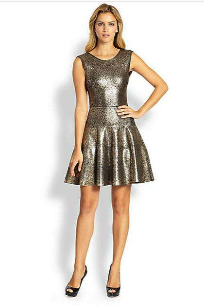 issa metallic dress under