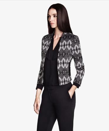 jacquard jacket hm