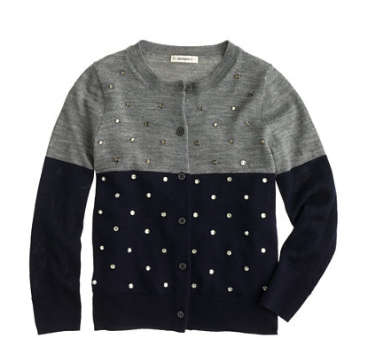 jcrew bejeweled cardigan