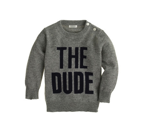 The dude cashmere sweater j crew