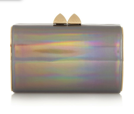 jimmy choo metallic clutch
