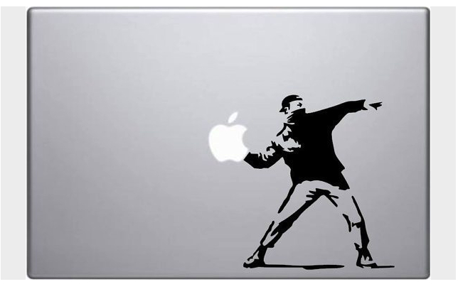 Banksy laptop decal