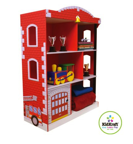 kid kraft firehouse book shelf