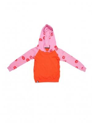 lip print hoodie