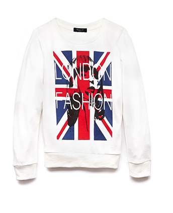 union jack london fashion sweatshirt forever 21