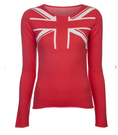 Union jack cashmere sweater Lucien Pellat Finet