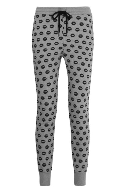 markus lupfer lip print sweatpants